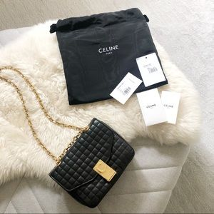 Celine Small C Flap Bag in Quilted Calfskin